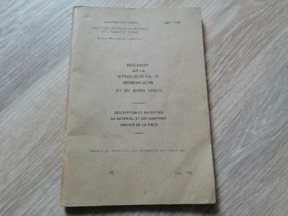 MAT 1120 daté 1984 (utilisation de la 12,7 M2HB) en français