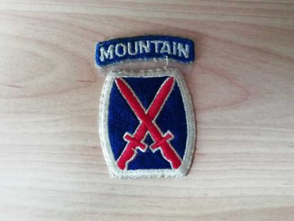 Insigne original 10° MOUNTAIN DIVISION