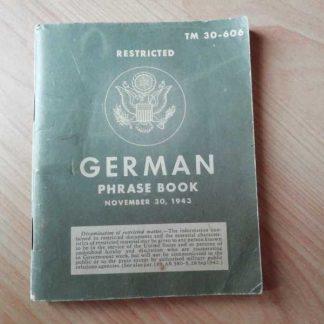 TM 30-606 daté 1943 (german phrase book)