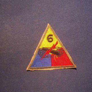Insigne original 6° ARMORED DIVISION