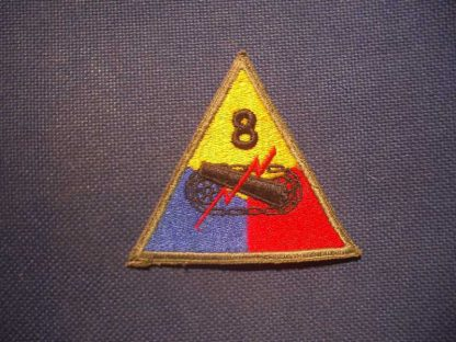 Insigne original 8° ARMORED DIVISION