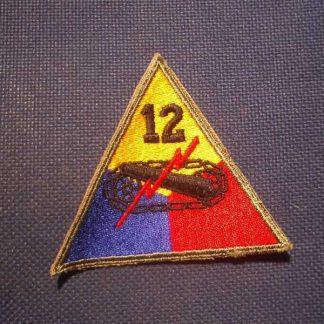 Insigne original 12° ARMORED DIVISION