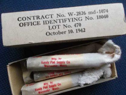 Boite de 6 iodines datée 1942 (pour insert de musette)