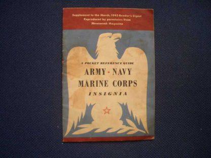 Livret original sur les insignes US daté 1943