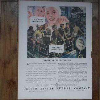 PUB originale RUBBER COMPANY datée 1944