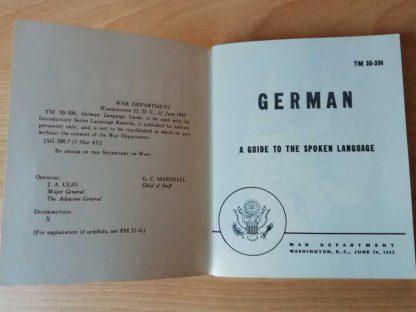 TM 30-306 daté 1943 (german language guide)