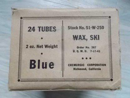 Tube de fart de 1941 pour ski des troupes de montagne