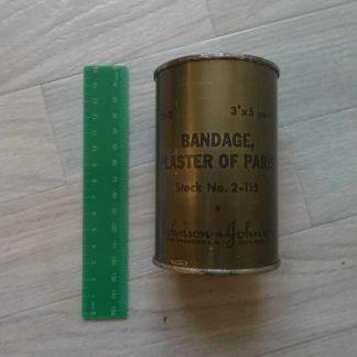 Bandage pour platre en boite tole de 1945