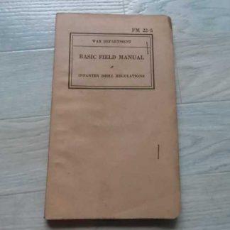 FM 22-5 daté de 1941 (infantry drill)