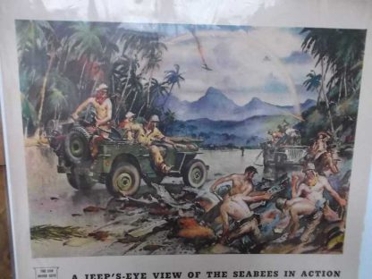 PUB JEEP WILLYS datée 1944 (seabees)