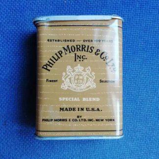 Boite en tole vide de 20 cigarettes PHILIPP MORRIS