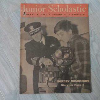 Magazine JUNIOR SCHOLASTIC du 8 janvier 1945