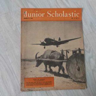 Magazine JUNIOR SCHOLASTIC du 15 janvier 1945