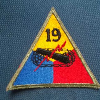 Insigne original 19° ARMORED DIVISION (not active)