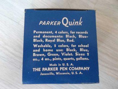 Flacon d'encre bleue de marque QUINK 4oz
