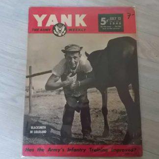 Magazine YANK du 13 juillet 1945 (cheval)