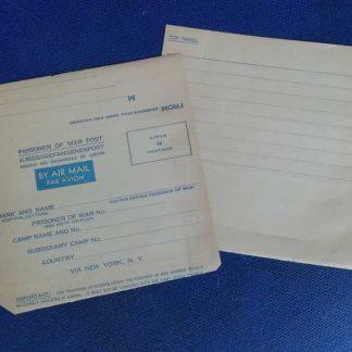 Enveloppe PRISONER OF WAR datée 1944