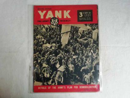 Magazine YANK du 24 septembre 1944 (démobilisation)