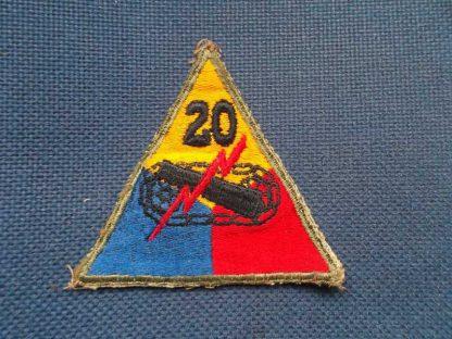 Insigne original 20° ARMORED DIVISION