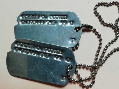 Jeu de dog tag d'origine officier T43/44 (Potter)