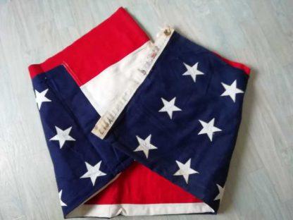 Grand drapeau US (200x330) 48 étoiles brodées sur coton (bulldog)