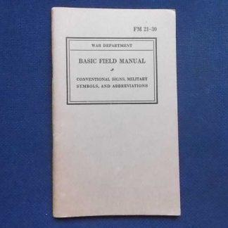 FM 21-30 daté 1941 (signs, symbols US ARMY)