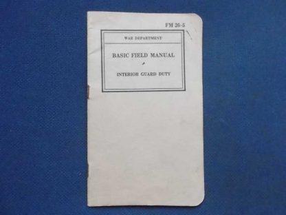 FM 26-5 daté de 1940 (intérior guard duty)