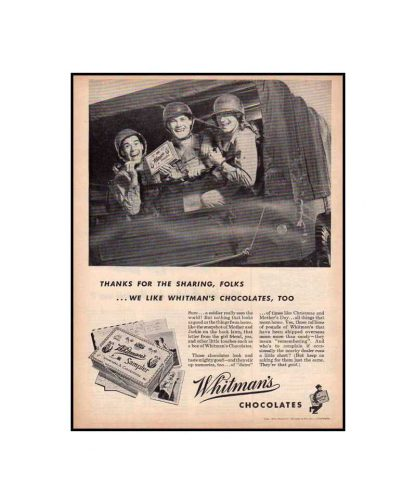 Boite de chocolats WHITMAN'S en TBE
