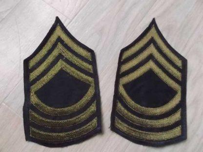 Chevrons de MASTER SERGEANT (brodés vert)
