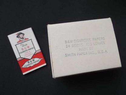 Boite WW2 de 24 paquets B & W rouge de 1945