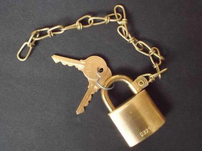 Cadenas US en laiton avec clés et chainette