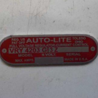 Plaque de régulateur 6 volts