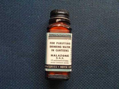 Flacon d'HALAZONE de purification de l'eau