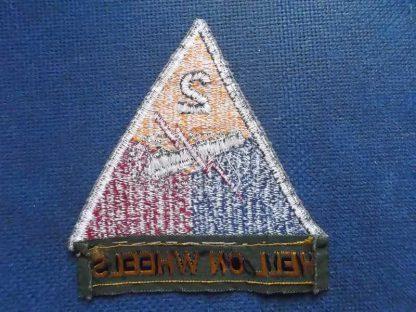 Insigne original 2° ARMORED DIVISION avec tab brodé