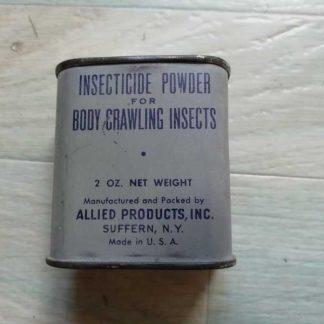 Poudre insecticide en boite tole