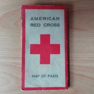 Carte de PARIS de l' AMERICAN RED CROSS de 1945
