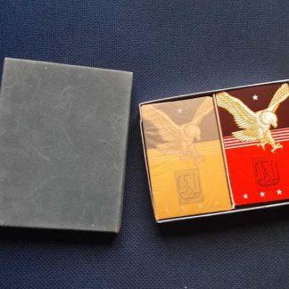 Jeu de cartes double daté 1945