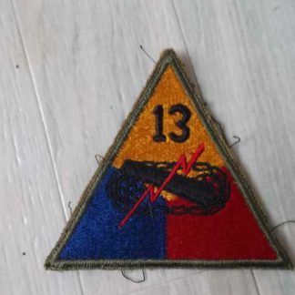 Insigne original 13° ARMORED DIVISION (green back)