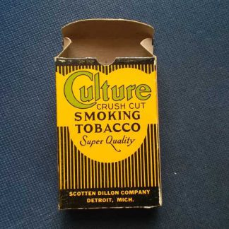 Paquet en carton vide de tabac CULTURE