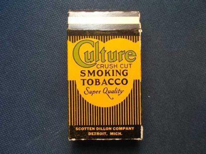 Paquet en carton vide de tabac CULTURE