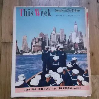 Magazine THIS WEEK du 27 aout 1944 (navy)