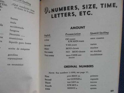 TM 30-600 daté 1943 (spanish phrase book)