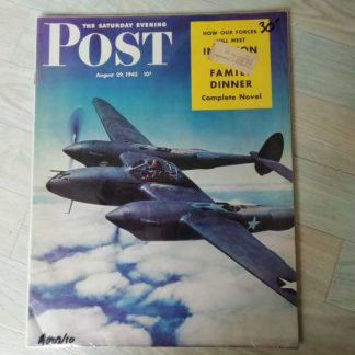 Magazine SATURDAY EVENING POST du 29 aout 1942