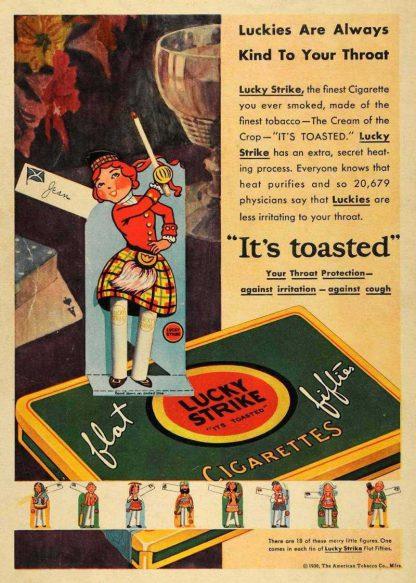Boite de cigarettes LUCKY STRIKE (variante)