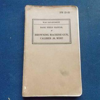 FM 23-55 daté 1940 (mitrailleuse cal.30 M1917)