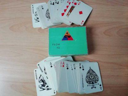 Jeu de cartes double 6° ARMORED