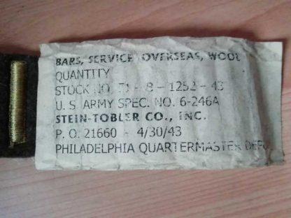 Overseas bars datées 1943