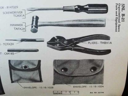 Tournevis US original pour mitrailleuse .30 et .50