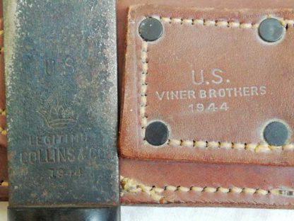 Machette avec fourreau datée 1944