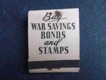 "Pochette d'allumettes ""buy war bonds"""